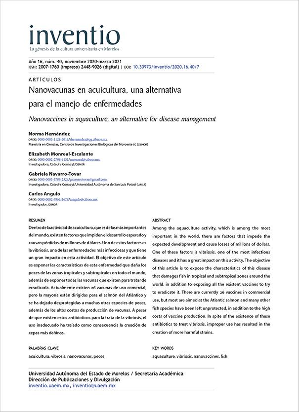 Nanovacunas en acuicultura, una alternativa para el manejo de enfermedades